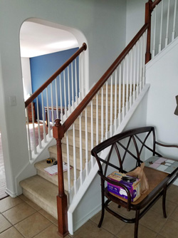 Before - Carpeted Stairway
