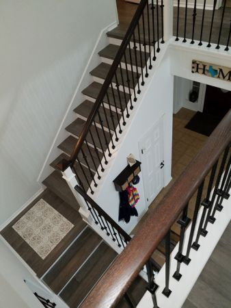 Custom Flooring and Staircase