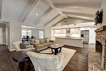 Stylish beam ceiling