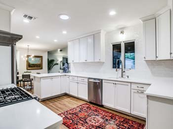 Remodeled White Accent Kitchen