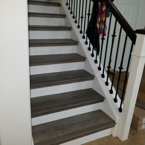 Custom Hardwood Staircase