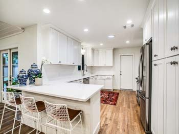 A stunning newly remodeled kitchen