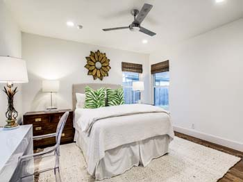 Tastefully decorated and spacious guest bedroom