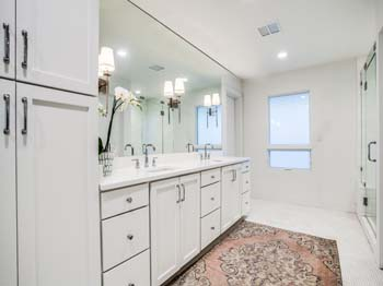 A beautifully remodeled bathroom