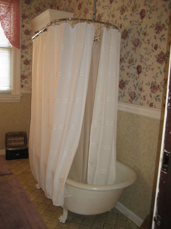 Tub surround shower curtain